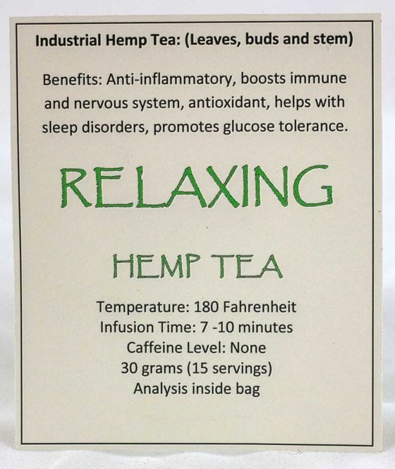 Hemp Tea Label